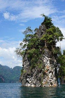 Island, Water, Rock, Thailand, Landscape, Ratchaprabha