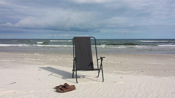 Summer, Beach, Sea, Chair, Sandals, Holiday, Water