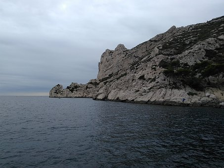 Sea, France, Waves, Landscape, Rock, Side, Cloud, View