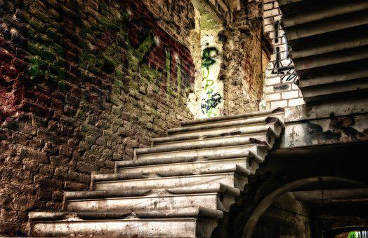 Lost Places, Stairs, Home, Ailing, Leave, Atmosphere