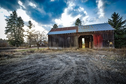 Barn, Antique, Rustic, Rural, Aged, Storm, Sky
