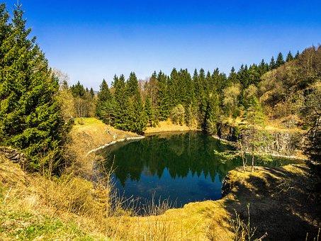 Landscape, Lake, Geo Top, Rhön, Swiss Francs, Germany