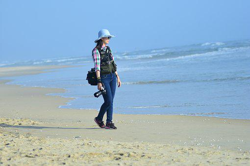 Beautiful, The Sea, Journalists, Dawn, Camera
