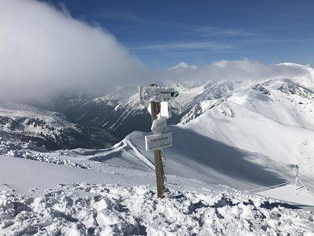 Mountains, Tatry, The High Tatras, Top View, Signpost
