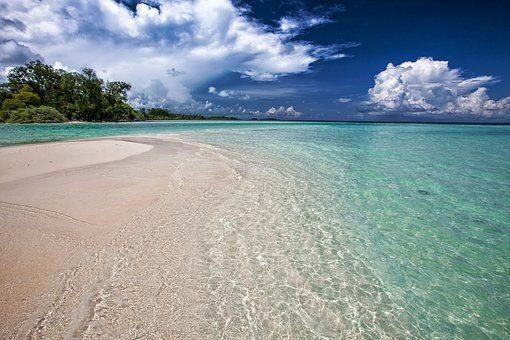 White Sand Beach, Ripples, The Shallow Sea, Turquoise