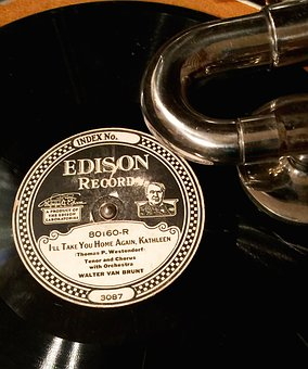 Edison, Record, Phonograph, Music, Sound, Audio