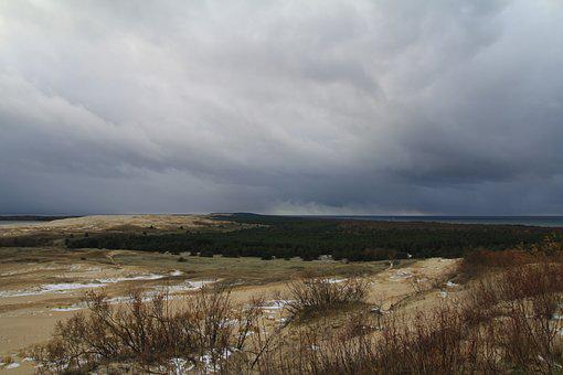 Autumn, Nida, Coast, Baltic, Europe, Curonian