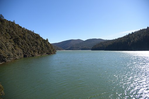 In Yunnan Province, Outdoor, Blue Sky, Lake