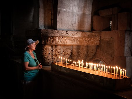 Church, Jerusalem, Holy, Remember, Candles, Flame, Fire