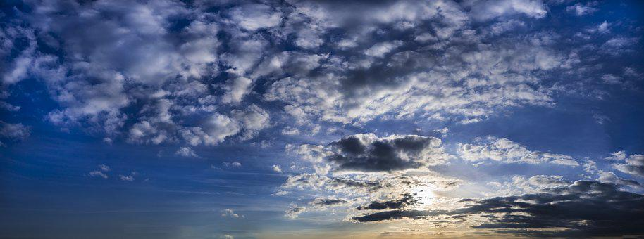Clouds, Sky, Fleecy, Clouds Form, Blue, White, Weather