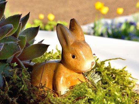 Easter Bunny, Moss, Hare, Decoration, Figure, Deco