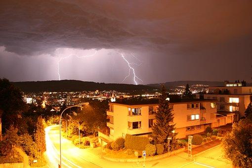 Zurich, Switzerland, Forward, Flash, Night