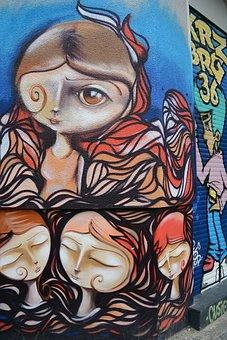 Graffiti, Street Art, Urban Art, Wall, Mural, Facade