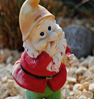 Garden Gnome, Dwarf, Decoration, Figure, Imp, Deco
