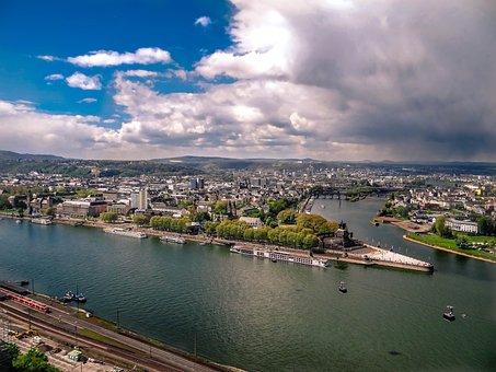 Koblenz From The Ehrenbreitstein Fortress, Fortress