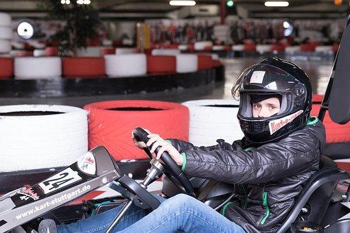 Go Kart Track, Auto, Race, Child, Go-kart, Fun, Leisure