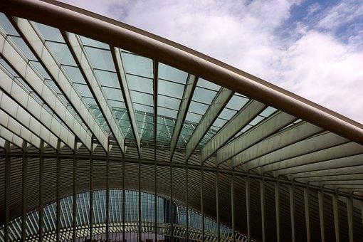 Railway Station, Liege, Liège, Architecture