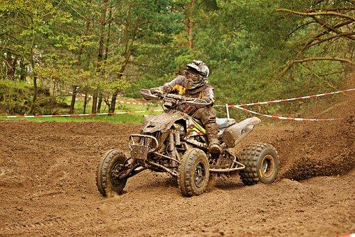 Quad, Atv, Motocross, Motorcycle, Cross