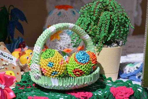 Origami, Needlework, Easter, Easter Eggs, Holiday