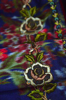 Folk, Sample, Embroidery, Ornament, Motif, Square