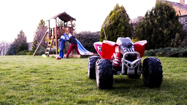 Toy, Motorbike, Outdoors, Course, Lawn