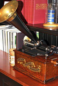 Phonograph, Cylinder, Americana, Music, Antique, Old