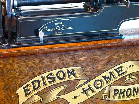 Edison, Phonograph, Music, Old, Player, Sound, Retro