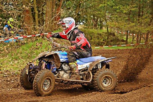 Motorsport, Motocross, Quad, Atv, Motorcycle, Cross