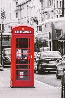 London, Phone Booth, Red, England, Red Telephone Box