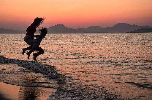 Waves, Travel, Sea, Beach, Summer, Sun, Sunset