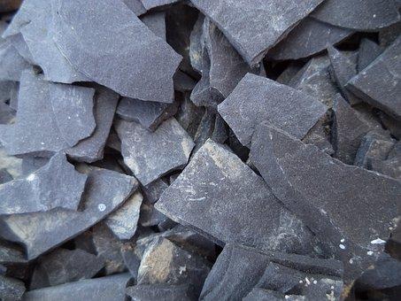 Shale, Stone, Broken, Texture, Rocky, Dark