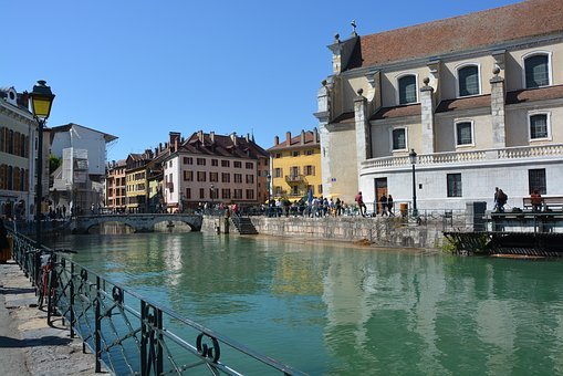 Annecy, City, Beauty, Water, River, Tourism, House