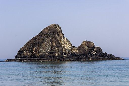 Scoglio, Sea, Blue, Sky, Water, Waves, Beach, Sassi