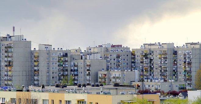 Osiedle, Blocks, Blokowisko, Housing, Building