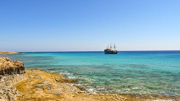 Sea, Coast, Horizon, Scenery, Nature, Seascape, Boat