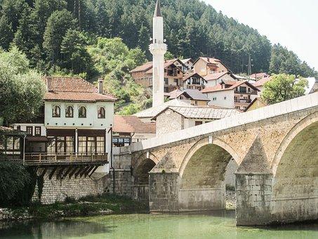 Konjic, Bridge, Bosnia, Bosnia And Herzegovina, River