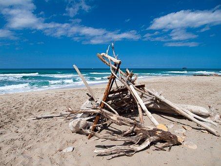 Sea, Beach, Sand, By The Sea, Beach Sea, Holiday