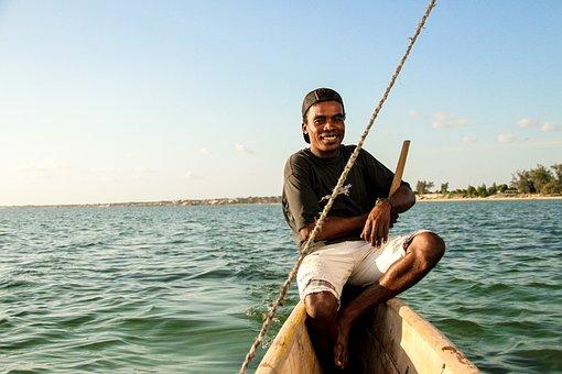 Madagascar, Africa, Canoe, Ride, Beach, Fishing, Sea