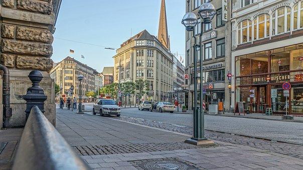 Hamburg, City, Stadtmitte, Pedestrian Zone, Building
