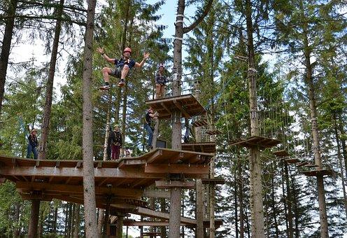 Climb, Climbing Forest, High Ropes Course, Drex