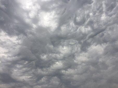 Clouds, Storm, Grey, Gray, Sky, Thunderstorm, Nature