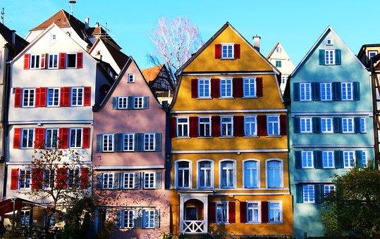 Tübingen, Old Town, Colorful, Neckar, Church