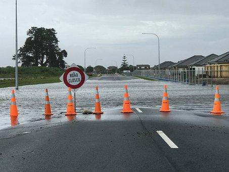 Flooding, Road, Closed, Disaster, Wet, Street, Danger