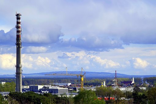 Chimney, Factory, Firm, The Horizon, The Industry, View