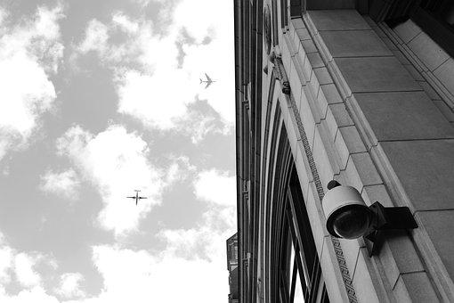 Planes, City, Building, Airplane, Flight, Sky, Business