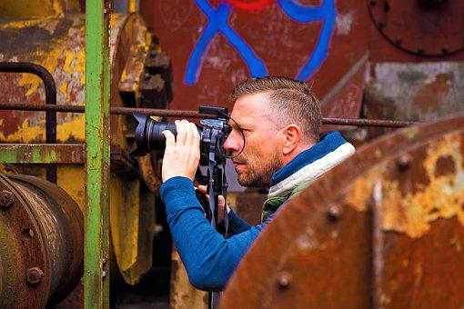 Photographer, Man, Fun, Making A Face, Funny