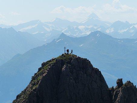 Großvenediger, Summit, Snow, Panorama, Creation