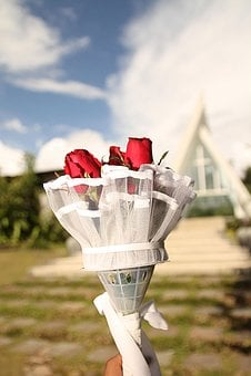 Flowers, Hand Bouqet, Church, Blur, Focus, Wedding