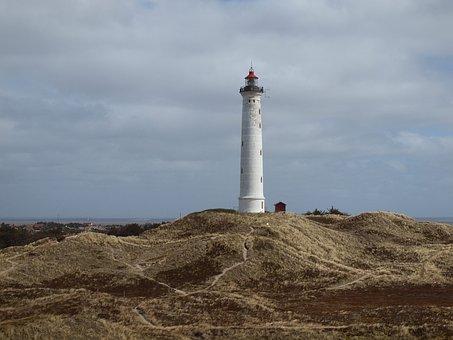 Denmark, Hvide Sand, Lighthouse, Coast, Blavand