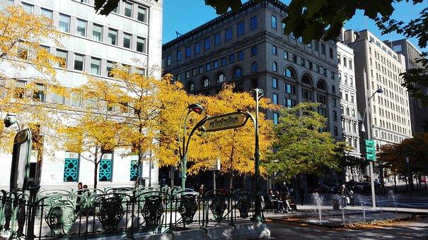 Montréal, Metro, Metropolitan, Paris, Fall, Leaves